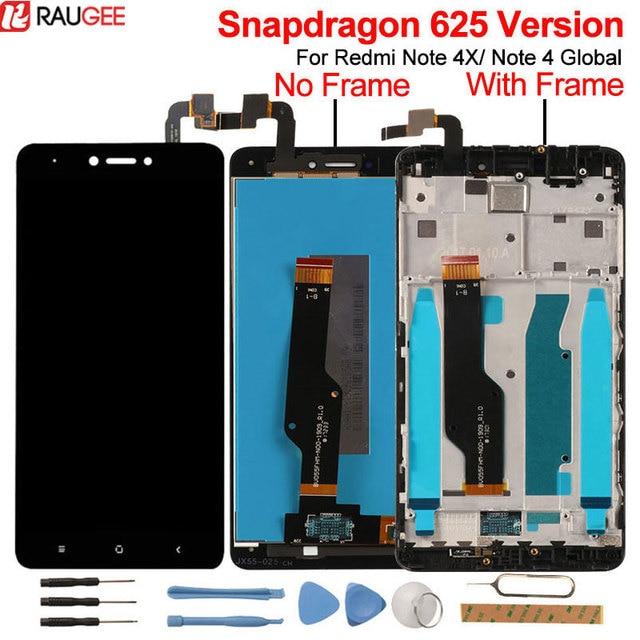 ل شاومي Redmi ملاحظة 4X شاشة الكريستال السائل + شاشة تعمل باللمس جديد محول الأرقام شاشة LCD ل شاومي Redmi نوت 4 النسخة العالمية أنف العجل 625