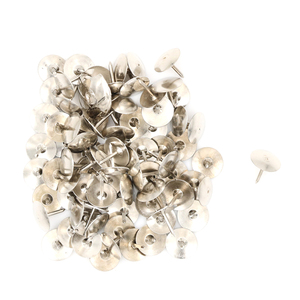 Silver Tone Corkboard Photo Push Pins Thumb Tacks 80Pcs