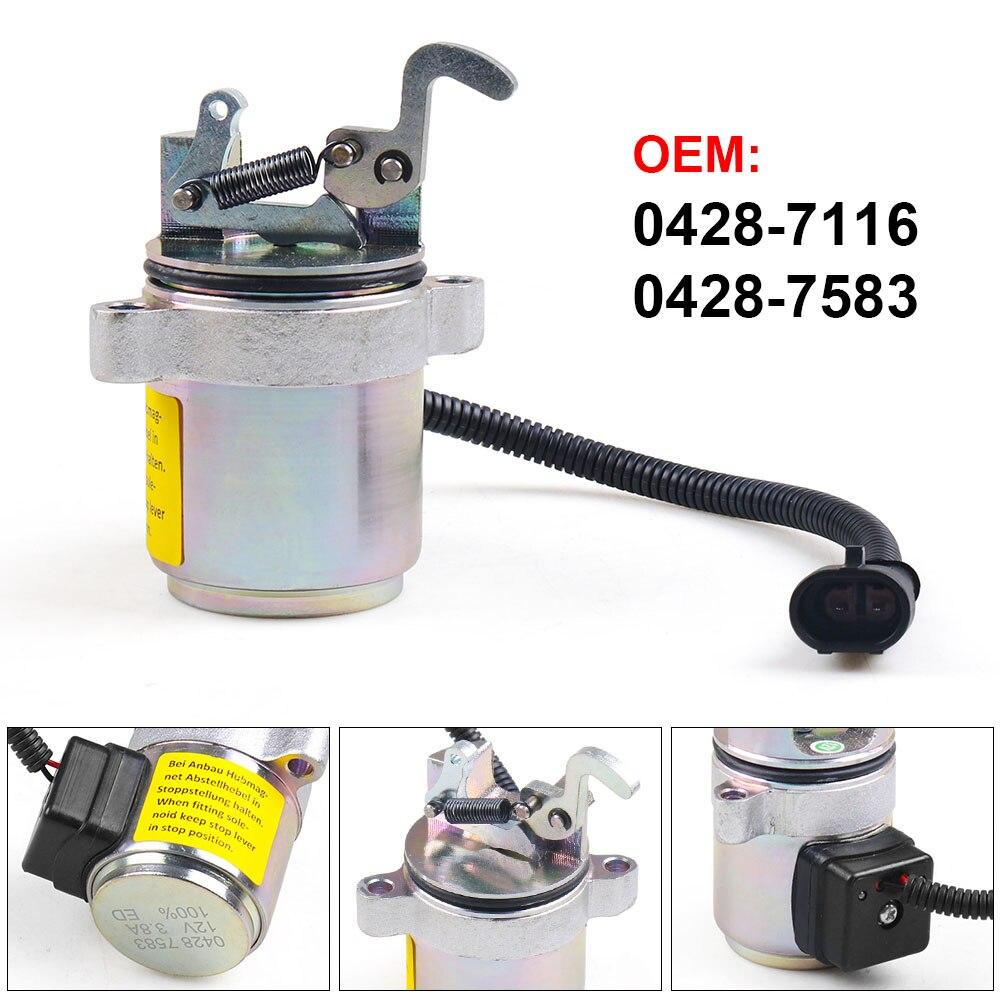 Новый 12V топлива выключение электромагнитный клапан 04287583 0428-7583 0428-7116 для Запасные детали двигателя Deutz 1011 / 2011