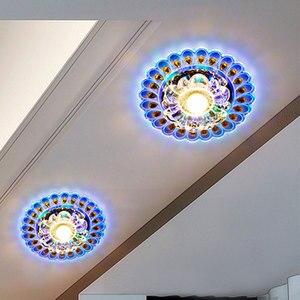 Image 4 - Lampada moderna del candeliere del soffitto del pavone del salone di illuminazione della luce principale di cristallo per illuminazione domestica della decorazione luce variopinta