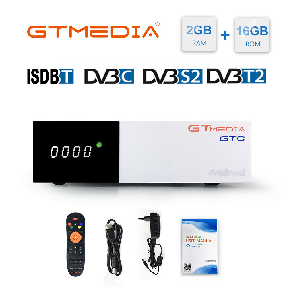 GTMEDIA GTC TV Box 4K HD Android TV 6.0 Ultra 2G + 16G WIFI Support M3U IPTV Set top Box 4 Media Player Satellite Receiver 1080P-in Satellite TV Receiver from Consumer Electronics