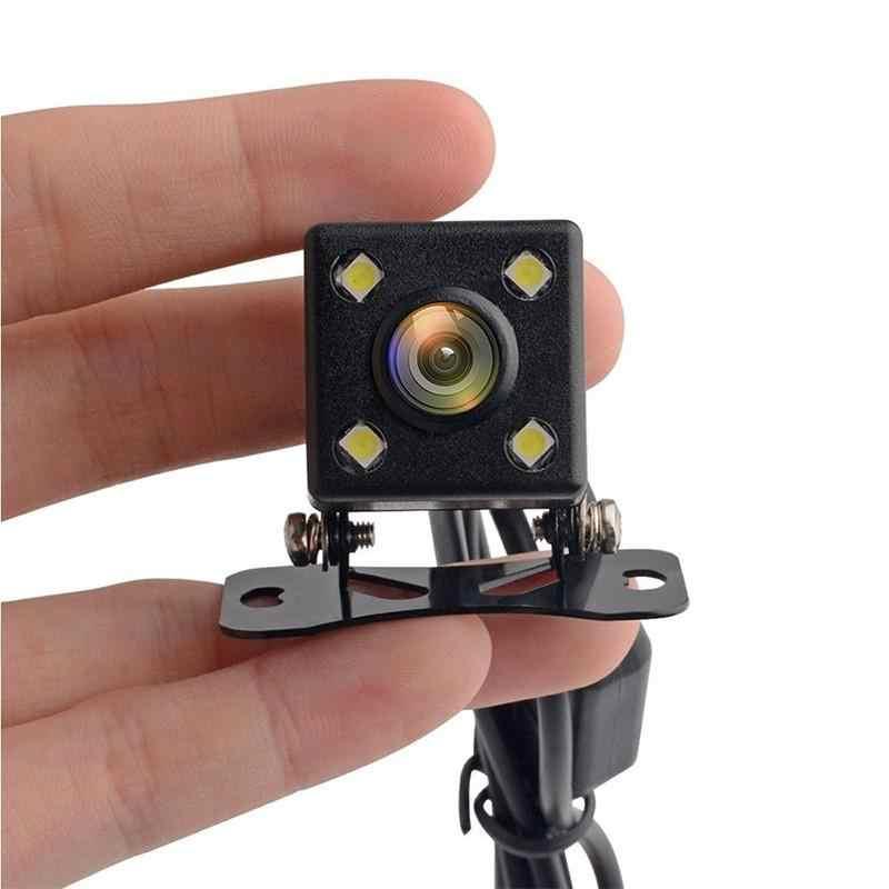 Cámara de visión nocturna HD cámara de visión trasera del coche con luces LED ángulo de visión de 170 grados cámara de estacionamiento sin línea de guía