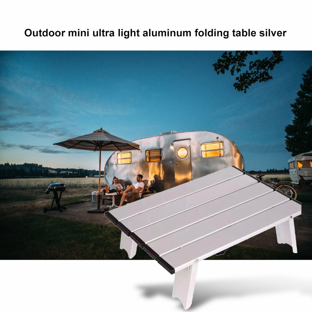 Japan Hot Camping Beach Outdoor Mini Ultra Light Aluminum Folding Table Mini Computer Desk Professional