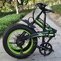 Telaio pieghevole bici elettrica 20 pollici bicicletta elettrica 48V 350W Motore di Buona qualità E bici pieghevole bicicletta elettrica display LCD