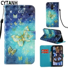 Luxury Flip Case For LG G7 ThinQ For LG K8 K30 K10 2018 PU Leather + Silicon Wallet Cover For LG LG Stylo 4 Butterfly Case Coque(China)
