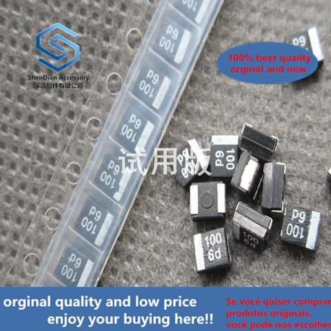 50pcs 100% Orginal New 3528 SMD Tantalum Capacitor 100UF 6.3V 10% B Type F930J107MBA Black