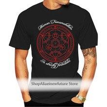 Fullmetal Alchemist T Shirt Short Sleeve Mens T Shirts Fashion 2021 Pop Rock Cotton Crewneck 3Xl Tees Shirts Homme