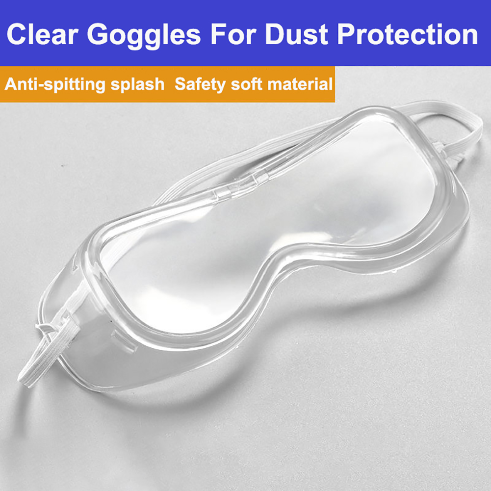 Safety Anti-Splash Goggles Eye Protection Protective Glasses Anti Fog Dust Clear Eyewear For Industrial Lab Work Soft Edge Glass