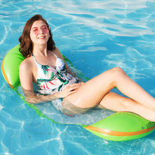 Inflatable Water Hammock Floating Bed Lounge Drifter Portable for Swimming Pool Beach MC889