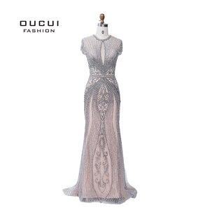 Image 3 - Oucui elegante vestido de noite formal 2020 vestido de festa longo para as mulheres robe de soiree vestidos de festa de noche sukienka wieczorowa