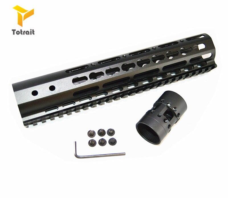 float M-LOK handguard rifle scope montar com porca de aço