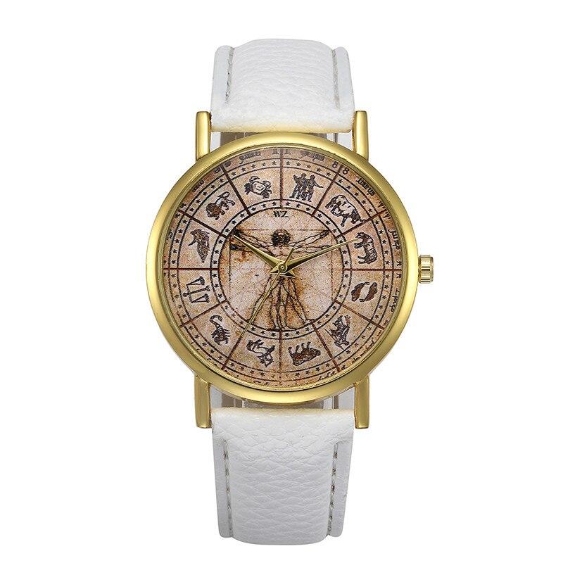 Часы женские Retro Design Leonardo Da Vinci's Painting Quartz Watch Female Wristwatch Montre Femme Relogio Feminino Reloj Mujer
