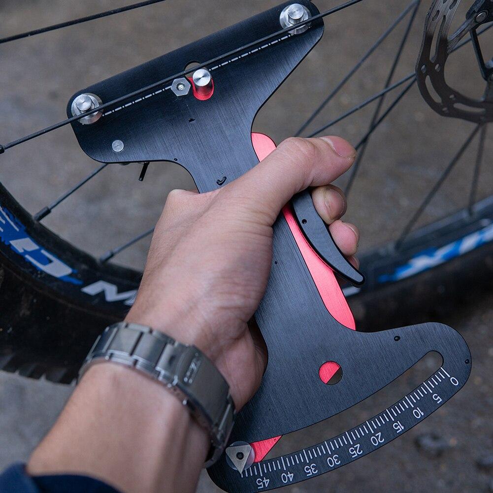 Bicycle Wheel Spoke Tensiometer Bike Aluminium Alloy Tension Meter Repair Tool