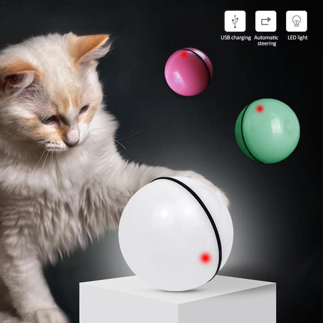 Smart Jumping Ball USB Electric Pet Toys Magic Roller Ball Cat LED Rolling Flash Ball Automatic Rotating Toy For Cat Dog Kids 2