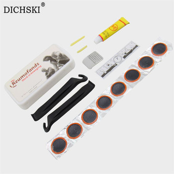 DICHSKI Glue High Quality Round Bicycle Bike Tire Tyre Rubber Patch Piece Cycling Puncture Repair Tools Kits Outdoor Accessories giyo bicycle repair tools portable bike tire repair kits pump cycling storage bottle high quality