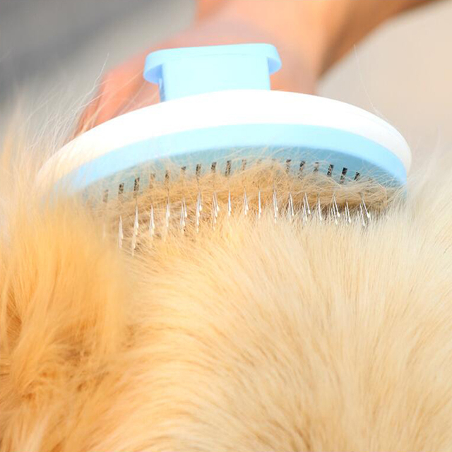 Dog Hair Removal Comb Grooming Brush Stainless Steel Cats Combs   4