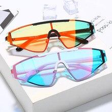 Rimless Cat Eye Sunglasses Women Luxury Brand Mirror Gradient Punk Sung