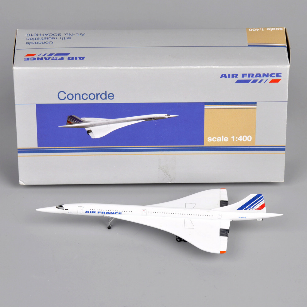 Children Toys Aircraft Concorde 1: 400 Air France 1976-2003 Diecast Metal White Vehicles Mini Airplane for Children Gift