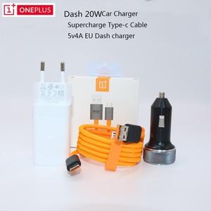 Image 1 - ONEPLUS شاحن لوحة القيادة السريع 5 فولت/4 أمبير ، الاتحاد الأوروبي ، كابل USB من النوع c 1 متر ، محول حائط لجهاز One plus 6T 6 5t 5 3T 3T