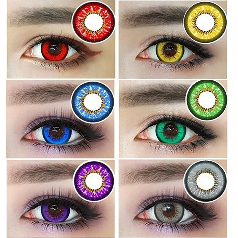 Beauty Corner Women Cospaly Contact Lens Men Soft Student Comfortable Colored Yearly Circle Eye Contact Lens For Men Women