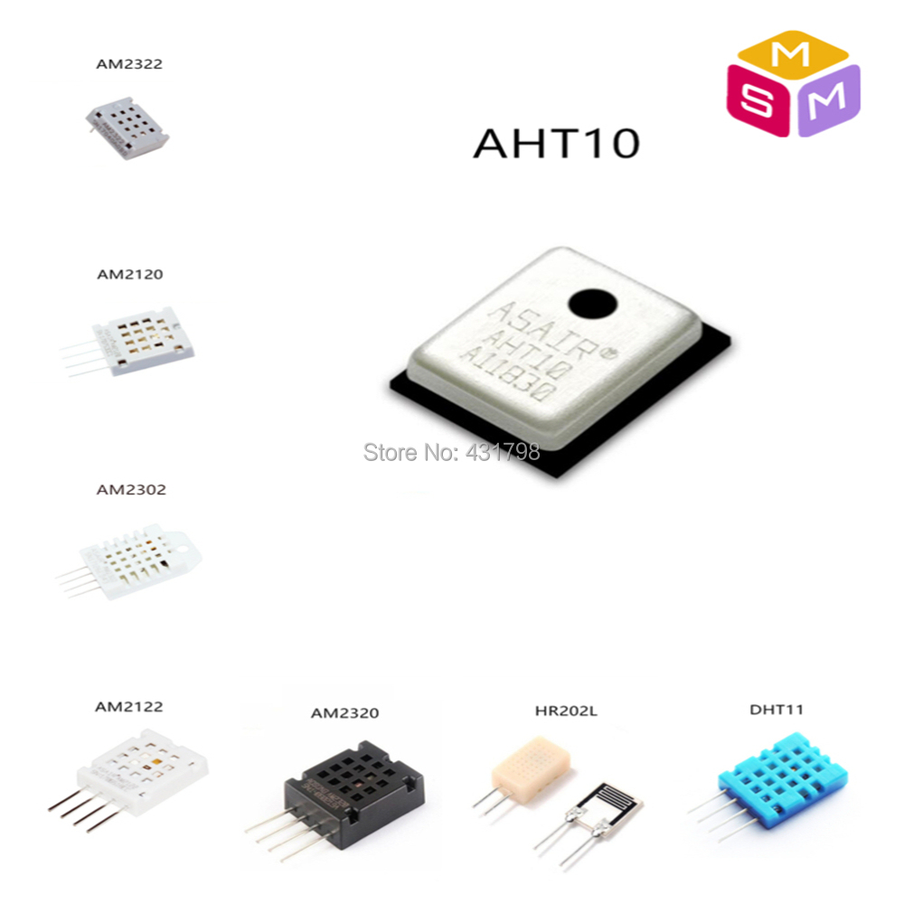 AHT10/DHT11/AM2302/AM2320/AM2122/AM2120/AM2322/HR202L Digital temperature and humidity sensor sensitive capacitor module AIoT