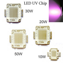 10pcs UV LED Chip Ultra Violeta Full Power COB Luz Talão Aquário Roxo 390-395nm Ultravioleta 10W 20W 30W 50W(China)