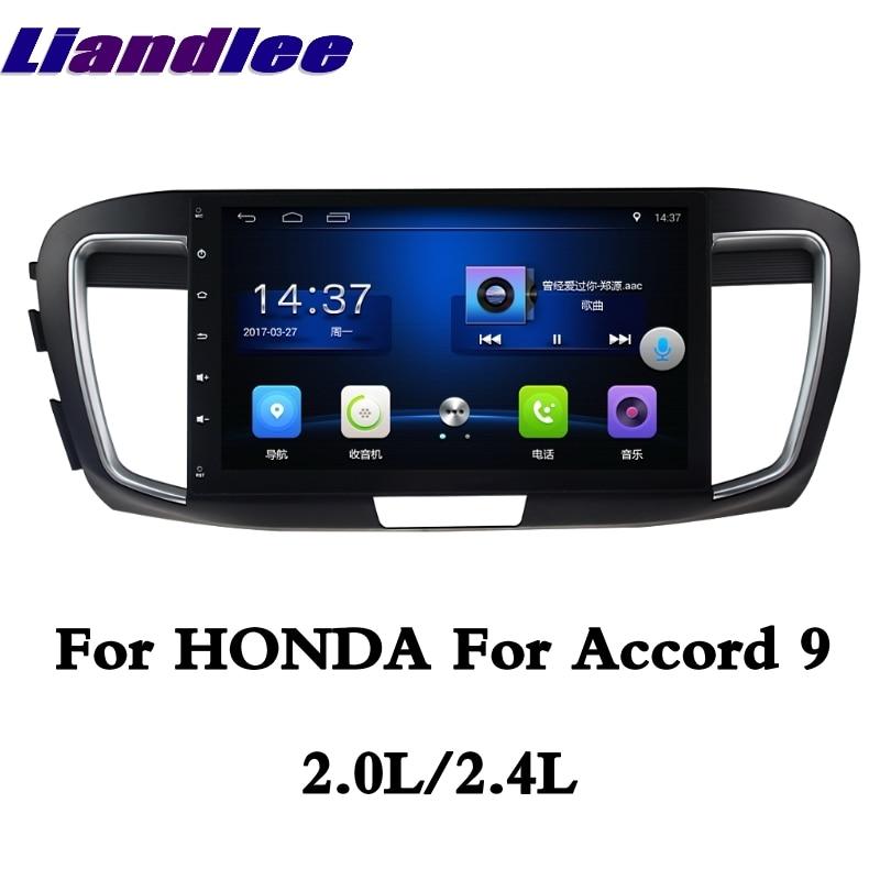 Pour HONDA pour Accord 9 2.0L 2.4L 2013 ~ 2017 LiisLee voiture multimédia GPS Audio Radio stéréo Style Original Navigation NAVI carte