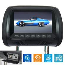 7 Inch DC12V Car LCD Digital Display HD Headrest Monitor Rear Seat Entertainment with Remote Control Car Accessories