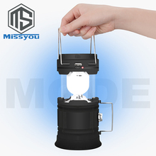 USB Rechargeable Camping Light LED Solar Camping Lantern Tent Lights for Outdoor camping equipment LED Battery Lantern 18650