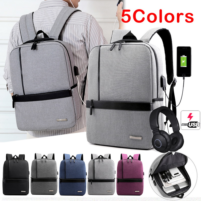 Puimentiua Slim Laptop Backpack Men Office Work Men Backpack Business Bag Unisex Black Ultralight Backpack Thin Back Pack