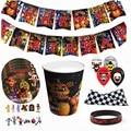 Игра FNAF Funtime Freddy, одноразовые украшения для дня рождения, набор посуды для вечеринки, бумажные чашки, бумажные тарелки, товары для детской ве...