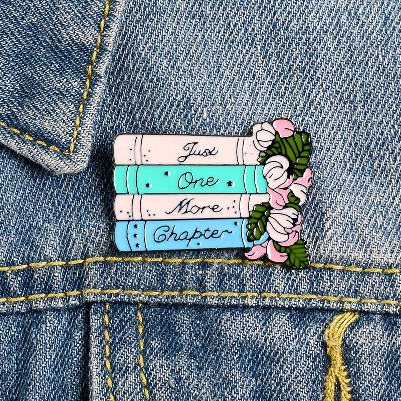 Books Flower Enamel pins Love Reading Books Drink Coffee Brooches Reader Bookworm Badges Funny Cartoon Jewelry Gift Wholesale(China)