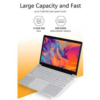 KUU A8S 15.6 inch Student Laptop 8GB RAM 128GB256GB SSD Notebook For intel J3455 Quad Core Ultrabook With Webcam Bluetooth WiFi