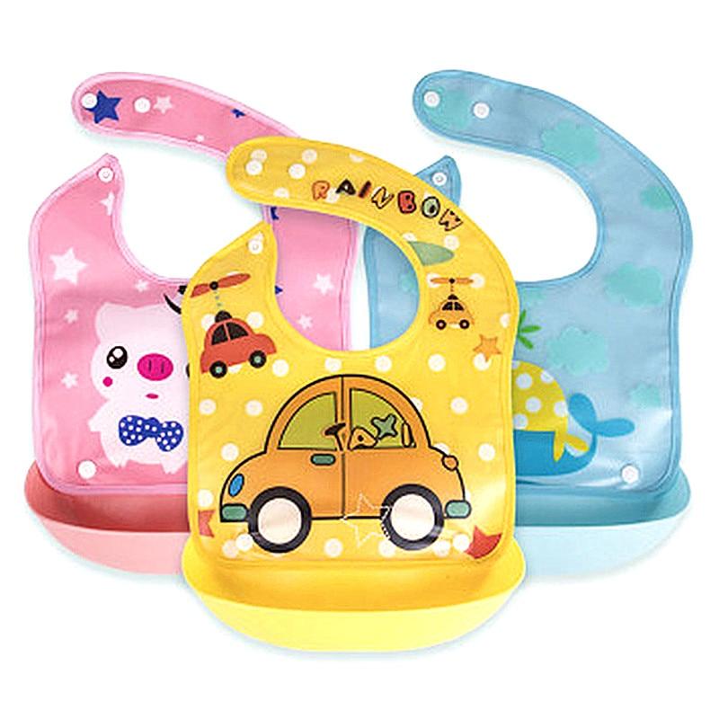 2Pcs//Set Baby Newborn Waterproof Bib Infant Toddler Feeding Apron Saliva Towel c
