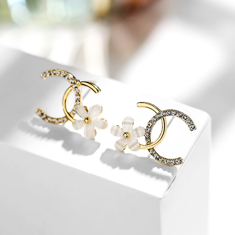 Fashion Exquisite Zircon Flower Earrings for Woman Korean New Crystal Statement Earrings Girl Party Jewelry Anniversary Gifts|Stud Earrings|   - AliExpress
