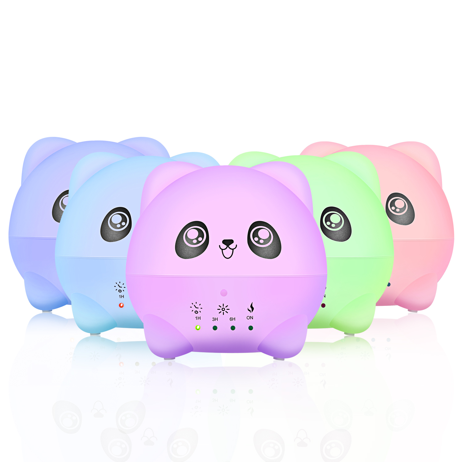 300ml Ultrasonic Oil Aroma Diffuser Air Humidifier With LED Lights Electric Aromatherapy Essential Panda Cartoon for Home Office