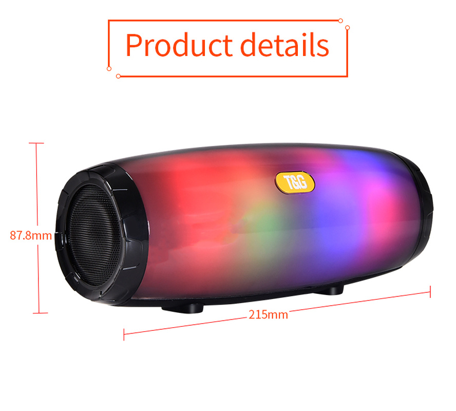 Портативный тканевый bluetooth динамик беспроводной светодиодный