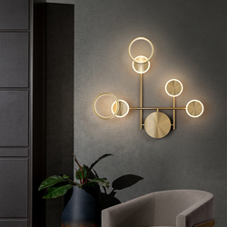 Nordic Luxury Wall Lamps Decoration For Home In the Living Room Loft Bedroom Bedside Corridor Lights Interior Black Led Sconce