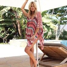 Vestido de capa de crochê para praia, vestido de cobertura de saída de sarong kaftan para praia # q828