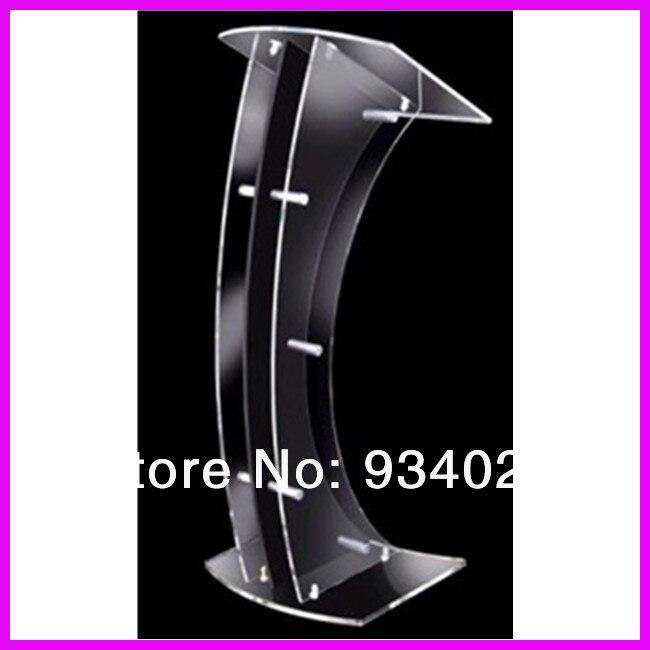 Curve Detachable Acrylic Lectern Dais Platform Plexiglass