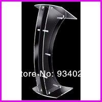 Plexiglass acrílico destacável da plataforma de lectern dais da curva