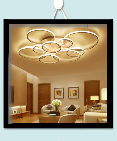 H91fea1de851c4b6c98e1ee1f7b3951c40 Surface mounted modern led ceiling lights for living room Bed room light White/Brown plafondlamp home lighting led Ceiling Lamp