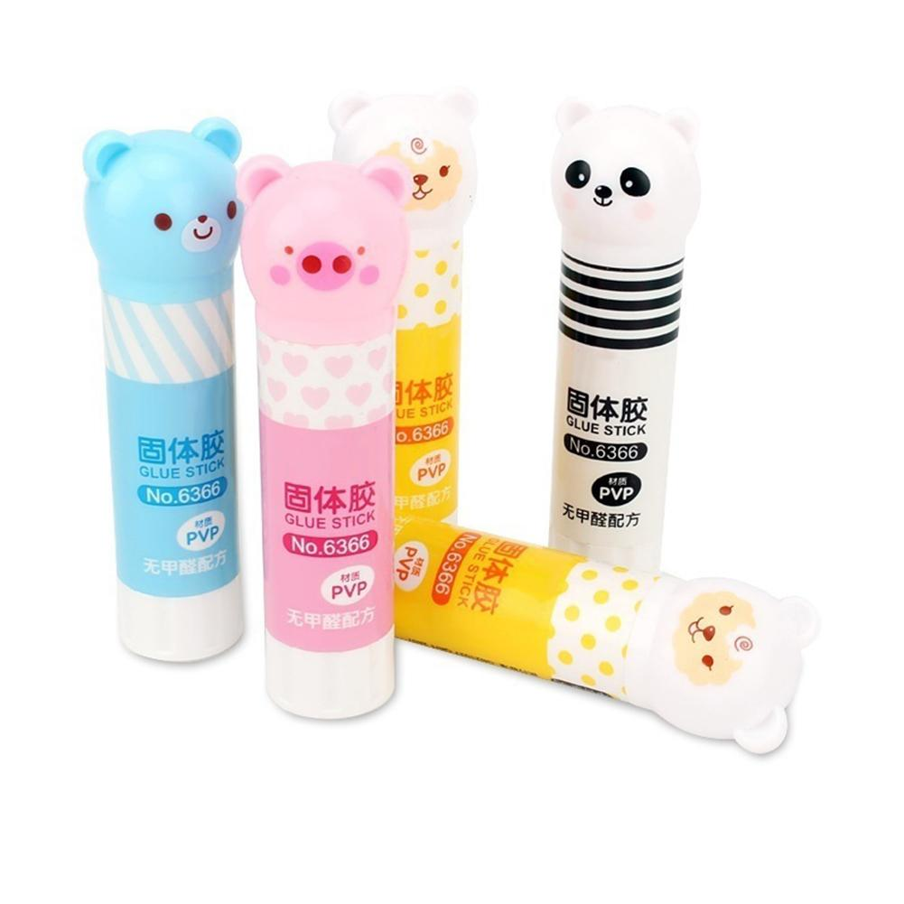 New Cartoon Panda Animal Pattern Strong Adhesive Glue Stick Students School Supplies