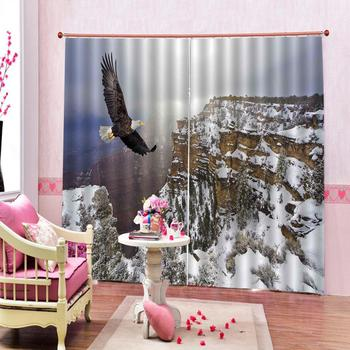 snow curtains photo Blackout Window Drapes Luxury 3D Curtains For Living room Bed room Office Hotel Home Blackout curtain