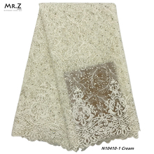 Mr.Z 2019 Latest African French Lace Fabric High Quality Tulle Net 5 Yards Embroidery Nigerian For Women
