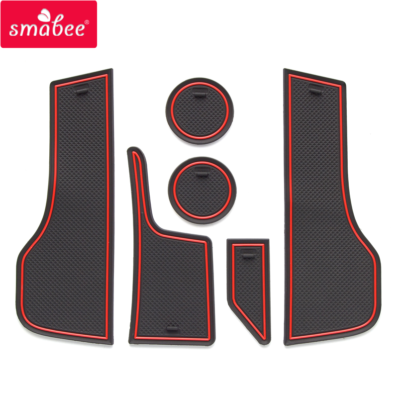 Smabee Anti-Slip Gate Slot Cup Mat for Lada Vesta 2020 SW CROSS CVT Door Groove Non-slip Pad Accessories Cup Holders 6pcs set
