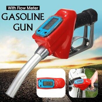 Digitaler Fluss Meter Anzeige Kraftstoff Benzin Benzin Öl Tanken für Pistole Düse Aluminium Tankstelle Tanken Injection Werkzeuge