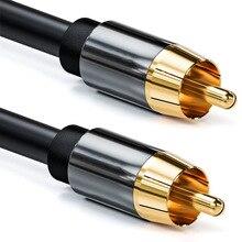 Dźwięk cyfrowy RAC kabel wysokiej jakości Stereo RCA do RCA koncentryczny kabel SPDIF męski głośnik Subwoofer Hifi kabel AV 1m 1.8m 3m 5m 10m