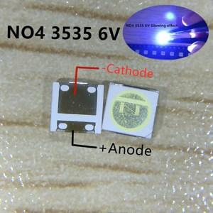 Image 5 - 2000 sztuk dla seul 3535 LED 2W 6V 3535 fajne białe podświetlenie LCD wysoka dioda LED dużej mocy podświetlenie dla TV do TV SBWVL2S0E