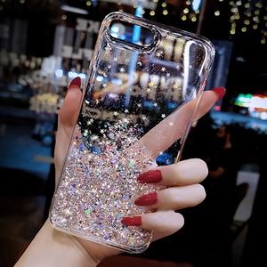 Bling Star Transparent case For Samsung Galaxy A7 2018 A750 Soft Cover A6 A8 J6 J4 Plus A2 Core J2 PRIME J5 J7 2016 2017